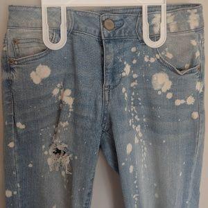 Fashion Nova Jeans - Fashion Nova bleached distressed jeans size 5